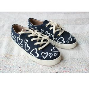NEW Jack Rogers Wren Glory Painted Heart Sneakers